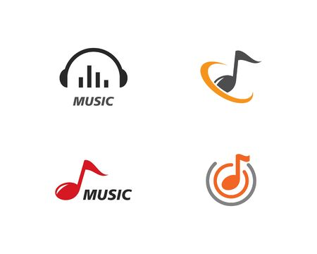 Music note Icon Vector template Illustration