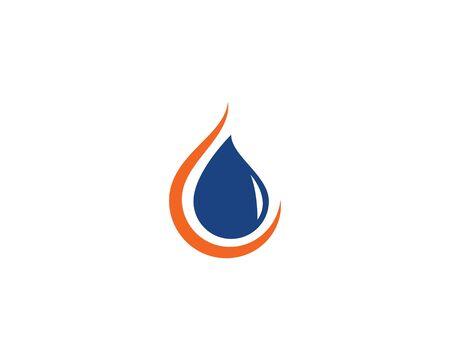 Fire flame Logo Template vector icon Oil, gas and energy logo concept Stockfoto - 128380325