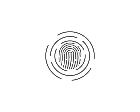 Fingerprint logo vector template Stock Illustratie