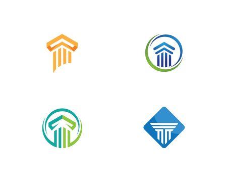 Pillar Logo vector Template Ilustração
