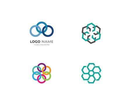 Business corporate abstract unity vector logo design 일러스트
