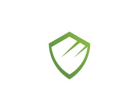 Shield symbol logo template vector illustration 일러스트