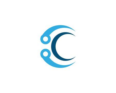 C Letter technology  Logo Template vector icon design