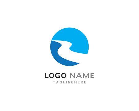 River Logo Template vector