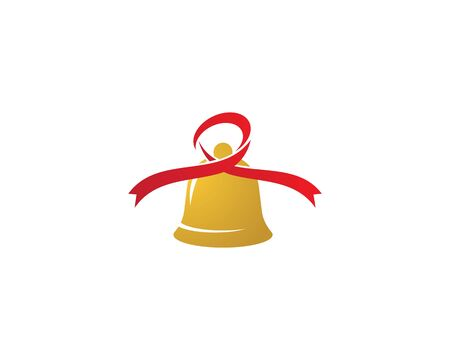 Christmas bell icon template Standard-Bild - 129141274