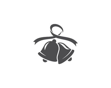 Christmas bell icon template Standard-Bild - 129141280