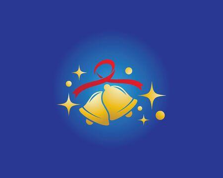 Christmas bell icon template Standard-Bild - 129141282