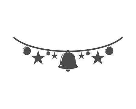 Christmas bell icon template Standard-Bild - 129141502