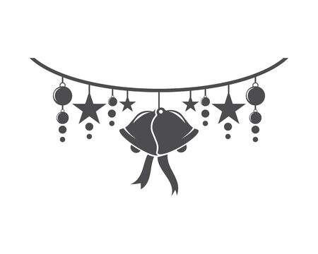 Christmas bell icon template Standard-Bild - 129141501