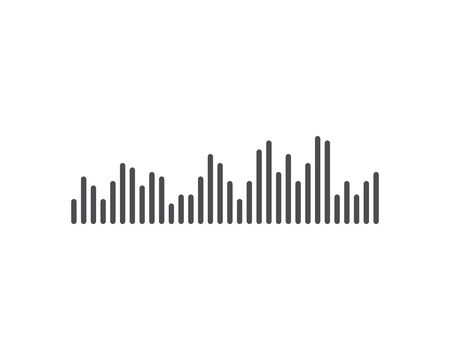 sound wave music logo vector icon template