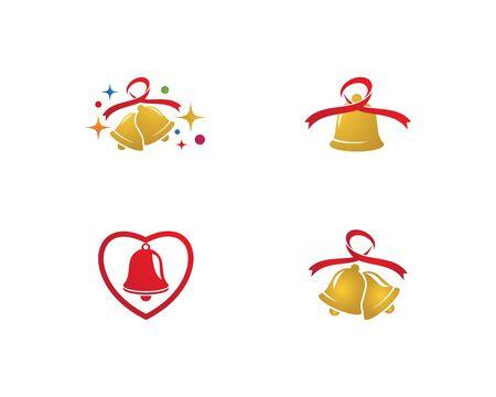 Christmas bell icon template Standard-Bild - 129141722