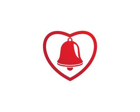 Christmas bell icon template Standard-Bild - 129141721