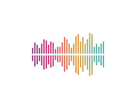 sound wave music logo vector template Stock Illustratie