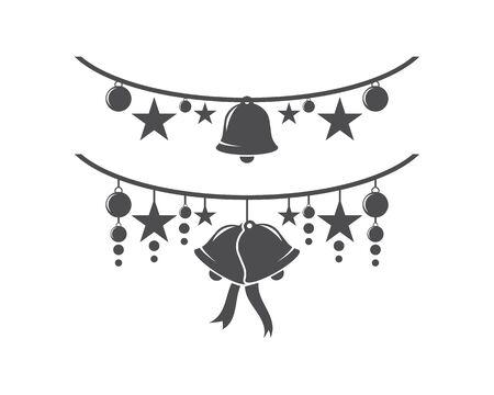 Christmas bell icon template Standard-Bild - 129141731