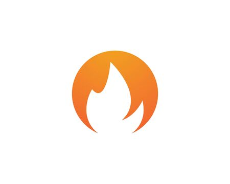 Fire flame Logo Template 版權商用圖片 - 129142063