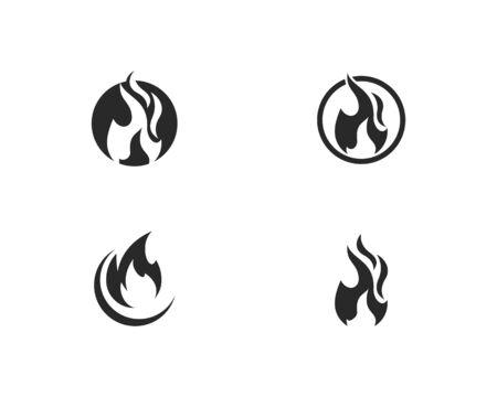 Fire flame Logo Template 版權商用圖片 - 129142071
