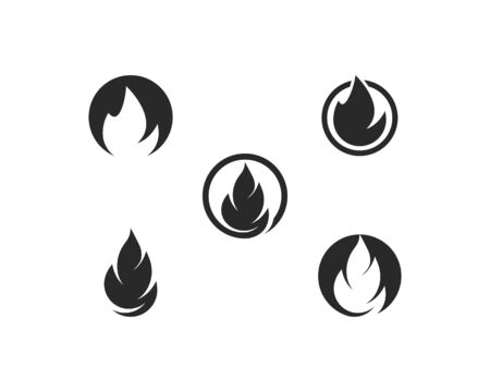 Fire flame Logo Template 版權商用圖片 - 129142075