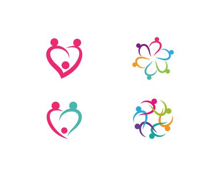 Adoption and community care Logo template vector Illustration