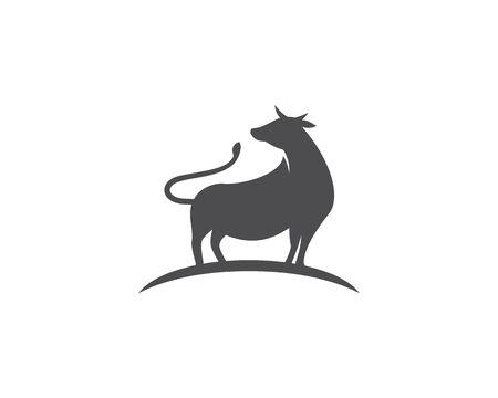 Cow logo vector template 일러스트