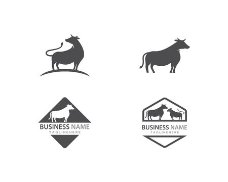 Cow logo vector template 스톡 콘텐츠 - 129539566