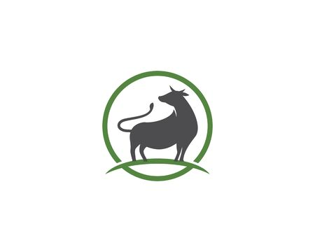 Cow logo vector template 스톡 콘텐츠 - 129539492