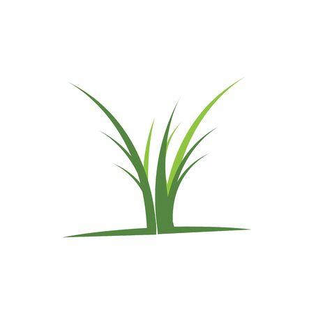 Grass logo vector template design