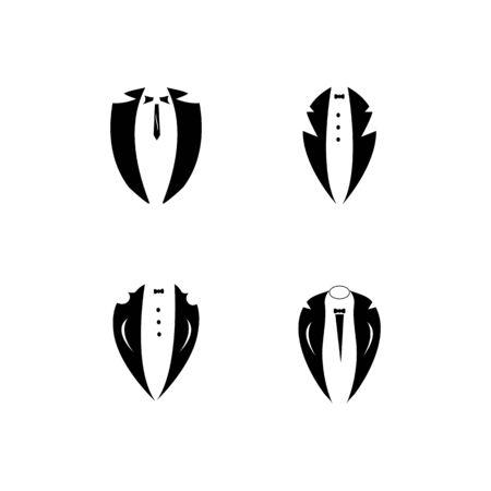 Tuxedo logo vector icon template