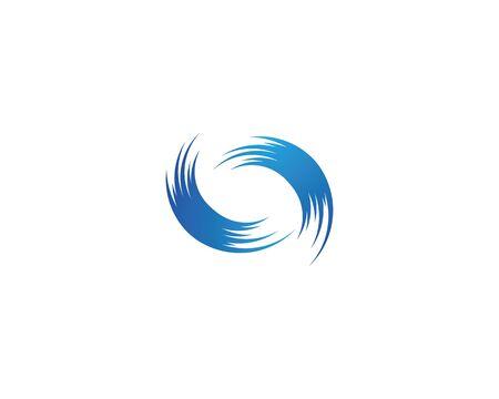 Water wave Logo Template Иллюстрация