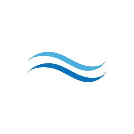 Water wave Logo design vector Template