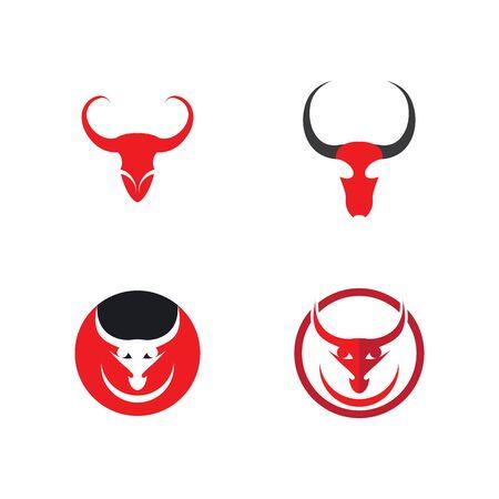 Bull Logo vector icon illustration 일러스트