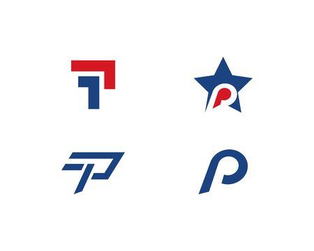 P letter logo vector template Illusztráció