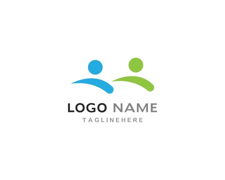 Adoption and community care Logo template vector Illusztráció