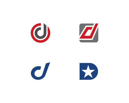 D letter logo vector template