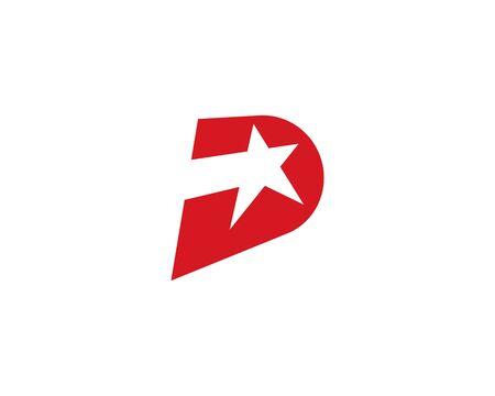 D Star letter logo vector template Illusztráció