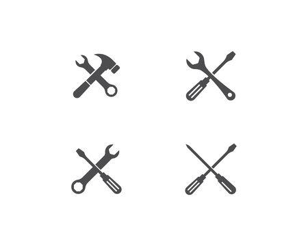 Service logo vector template Illusztráció