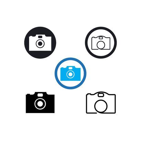 Camera logo vector template design