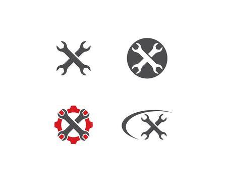 Service logo vector template Stock Illustratie