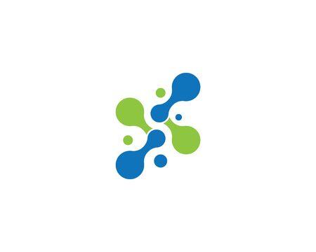 Molecule,DNA logo vector template