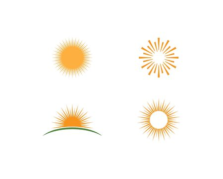 sun ilustration logo vector icon template Иллюстрация