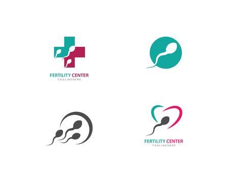 Fertility Sperm logo vector template Çizim