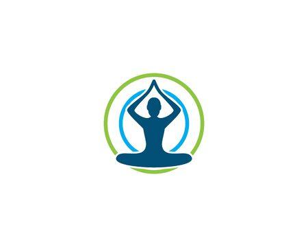 Meditation yoga logo template vector Standard-Bild - 130020245