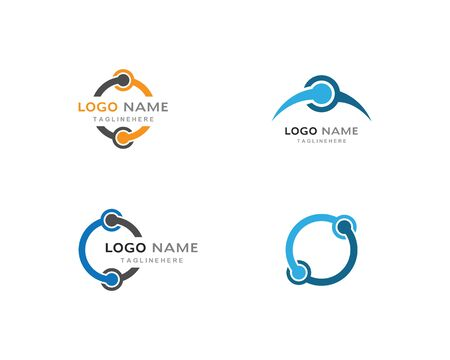 Business corporate abstract unity vector logo design Illustration