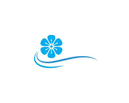Plumeria flower logo template vector Standard-Bild - 130020802