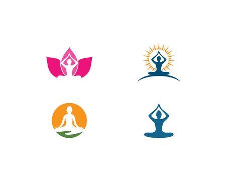 Meditation yoga logo template vector Standard-Bild - 130020804