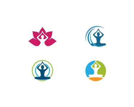 Meditation yoga logo template vector Standard-Bild - 130020808