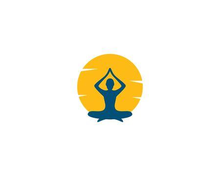 Meditation yoga logo template vector Standard-Bild - 130020806