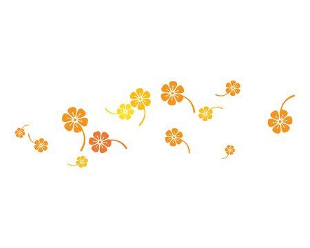 Plumeria flower template vector