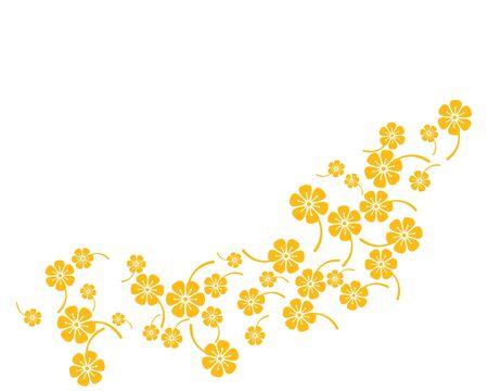 Plumeria flower template vector Standard-Bild - 130022481