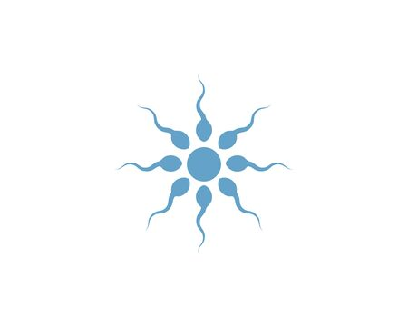 fertility Sperm logo vector template