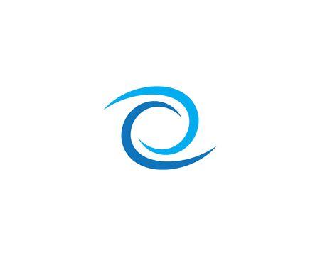 Business logo, vortex, wave and spiral icon Archivio Fotografico - 130099717